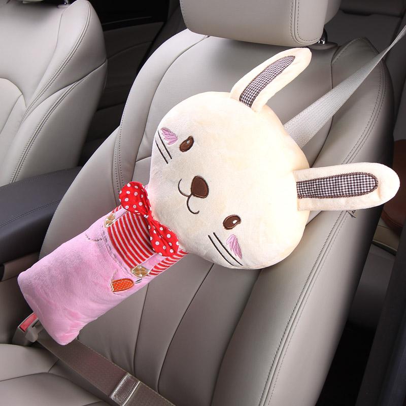 汽车安全带护肩套抱枕可爱卡通儿童保险带创意保护套车内装饰用品