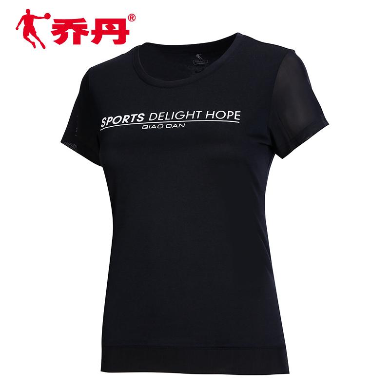 乔丹短袖T恤女2020夏季新款上衣宽松休闲半袖棉t健身跑步运动服女