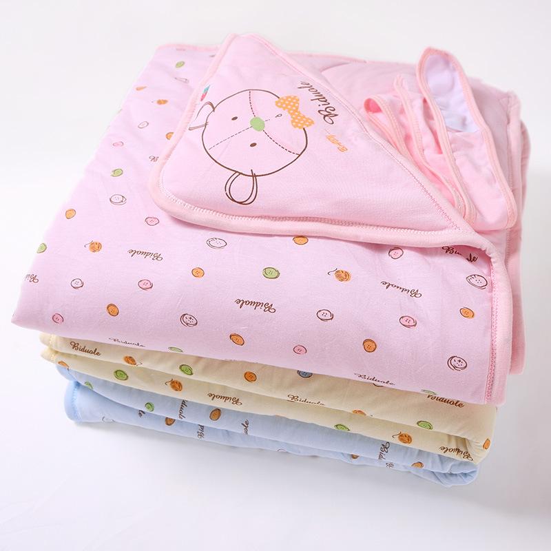 新生儿抱被春秋冬季纯棉婴儿包被抱毯夹棉款被子春夏宝宝用品