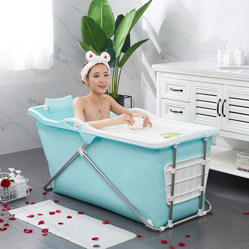 折叠浴缸 泡澡桶 大人家用洗澡桶 加厚成人塑料便携式浴盆全身浴