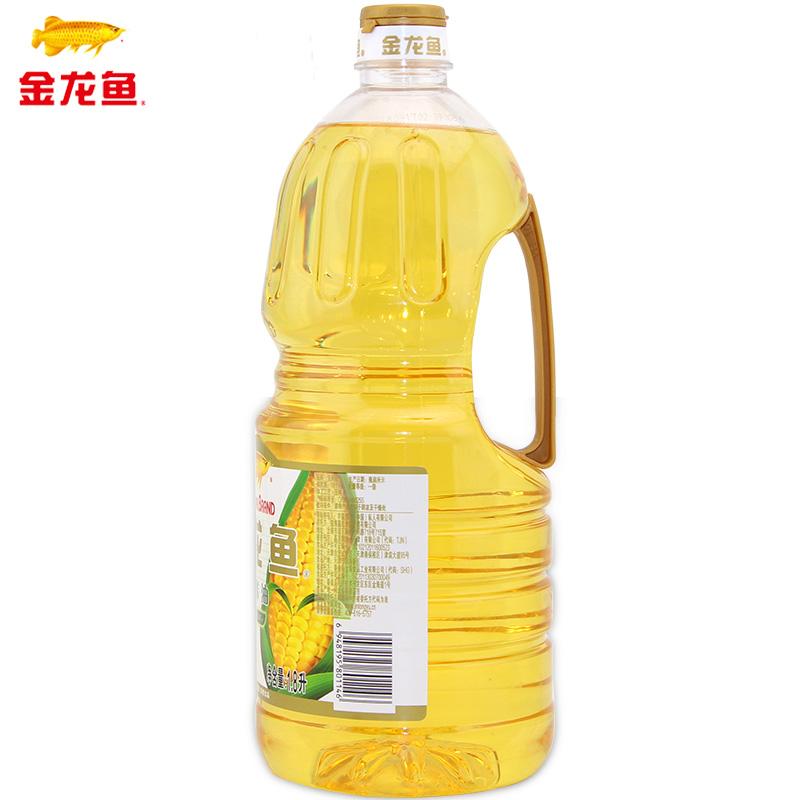 金龙鱼玉米油1.8L*6桶玉米胚芽油非转基因压榨食用油植物甾醇整箱