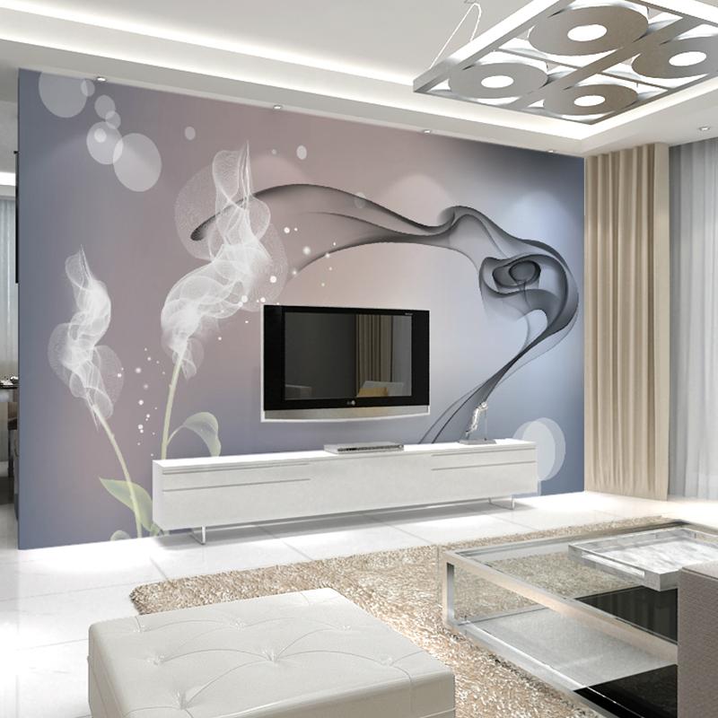立体影视墙壁画卧室墙纸自粘墙布 3D 电视背景墙壁纸简约现代客厅