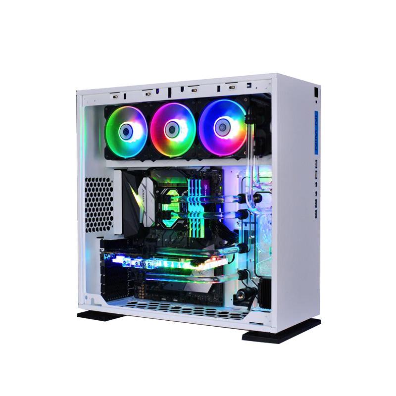 台式组装机办公整机装机 lol 电脑主机 diy 水冷吃鸡游戏 i7i5 四核八核
