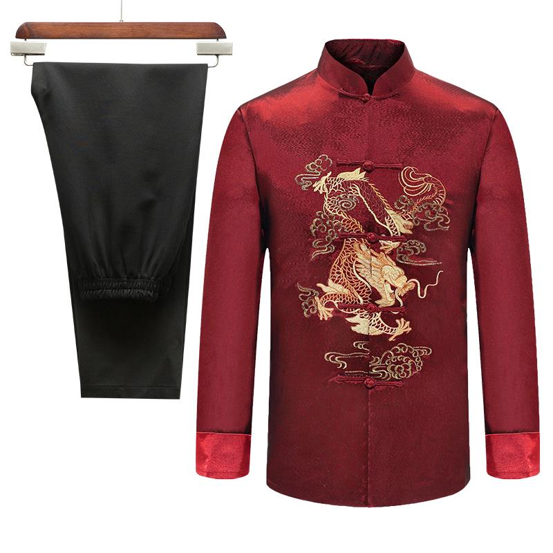 中老年人唐装女情侣套装结婚礼服奶奶寿星老人过寿生日衣服中国风