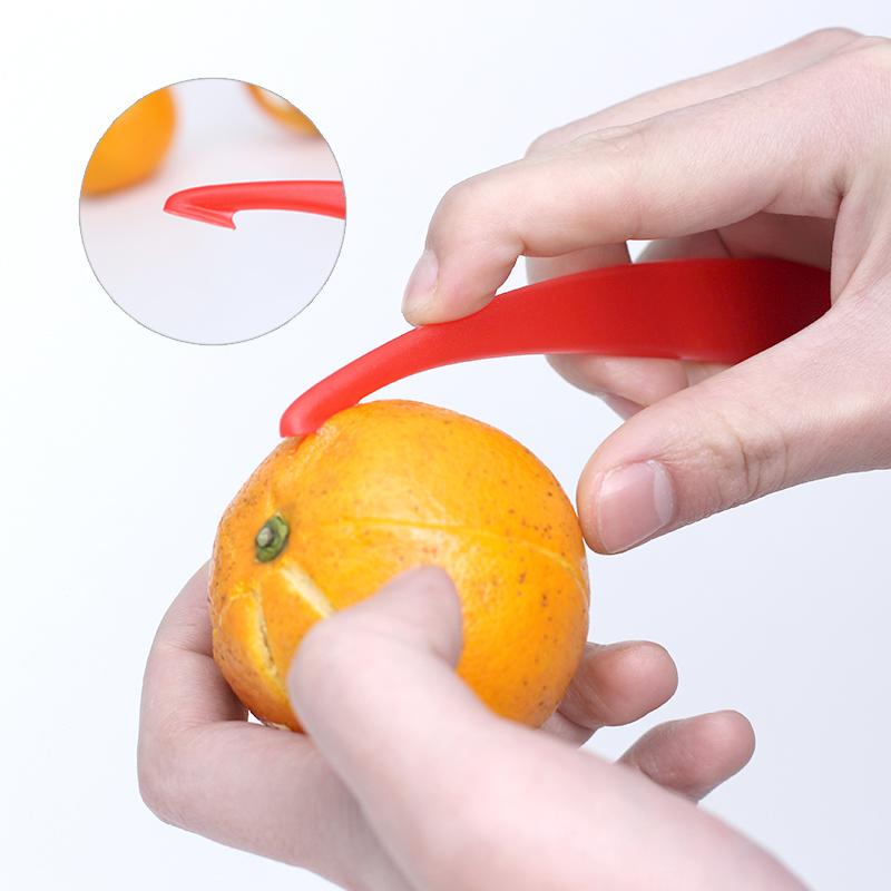创意剥橙器 简易开柠檬橘子柚子皮小工具 橙子便捷去皮
