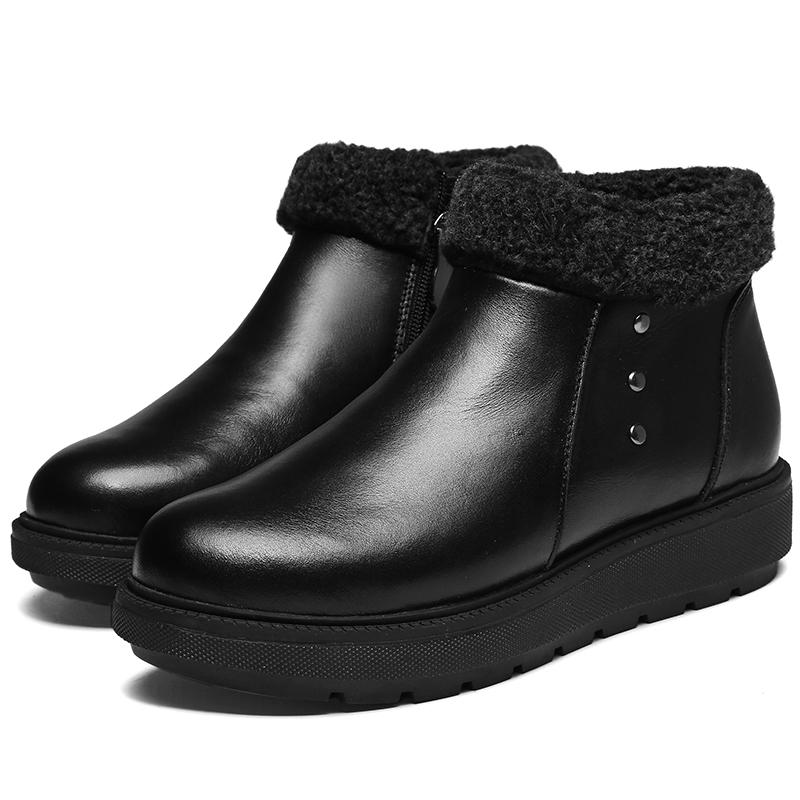 大脚狼电热鞋锂电池电暖鞋充电可行走冬加热暖脚器加绒休闲皮鞋女