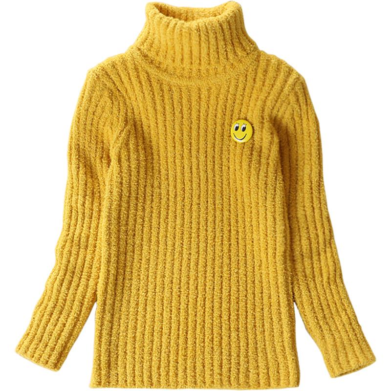2019新款女童毛衣高领保暖冬季中大童儿童宝宝加厚套头打底针织衫