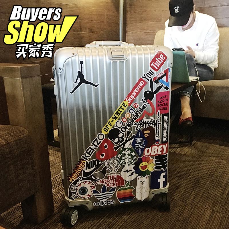 潮牌行李箱旅行箱贴纸个性潮流笔记本电脑吉他滑板拉杆箱贴画防水