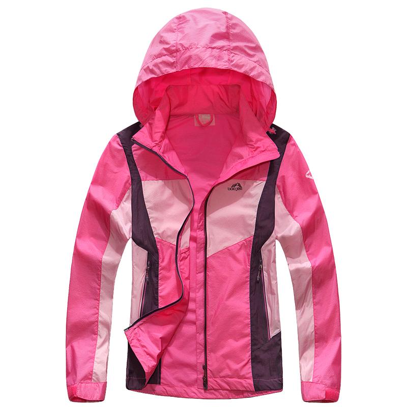 夏季户外防晒皮肤衣风衣女拼色运动防风衣登山服速干防紫外线外套