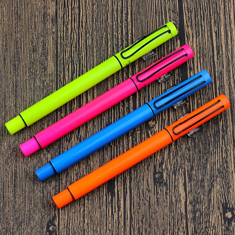 依人钢笔3395学生专用正姿钢笔多彩笔壳硬笔书法练字笔送墨胆 小暗尖笔尖