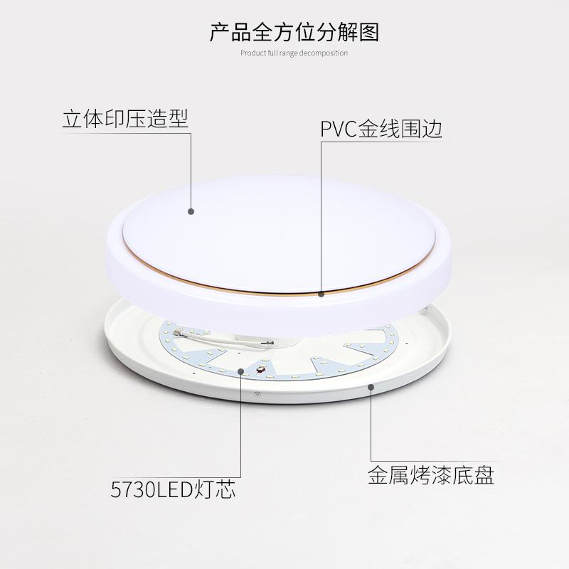 走廊灯圆形吸顶灯现代简约卧室过道客厅灯阳台厨卫灯灯饰灯具 LED