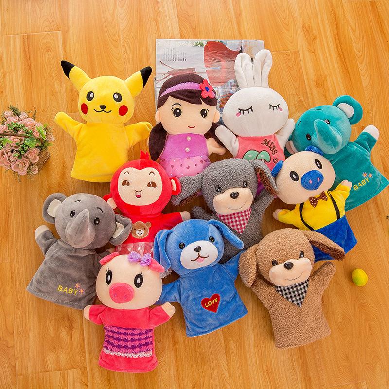 第二件半价手偶玩具玩偶卡通动物手套安抚早教玩偶娃娃表演圣诞节