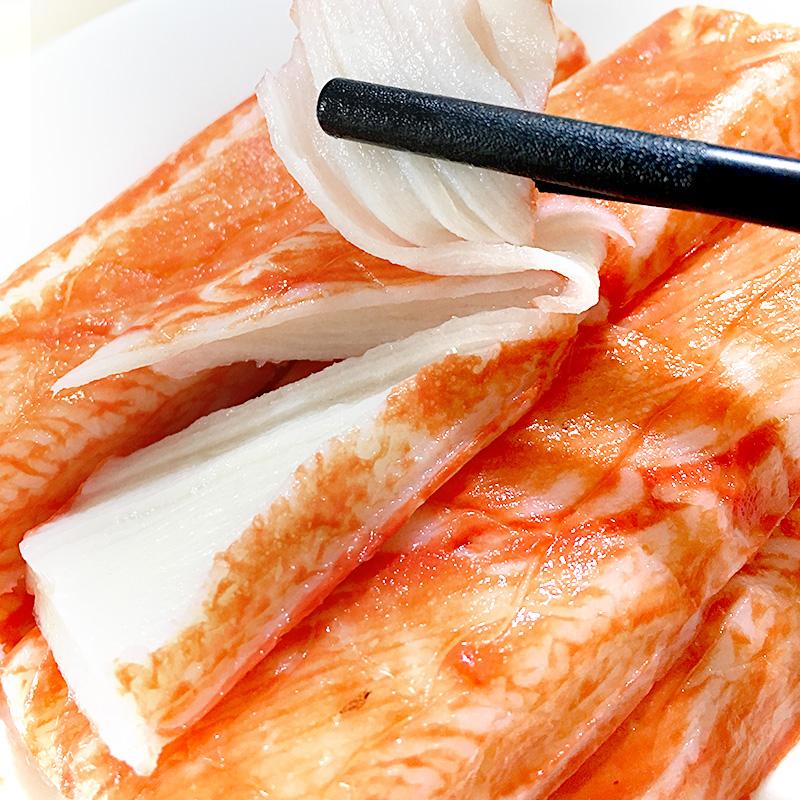 韩国蟹肉蟹棒可莱美模拟蟹肉棒既食手撕无法呼吸蟹足棒寿司蟹柳棒