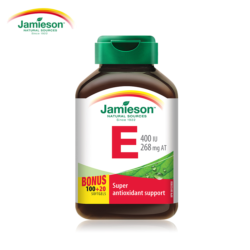 jamieson健美生进口天然维生素e软胶囊400IU120粒 ve胶囊美白淡斑