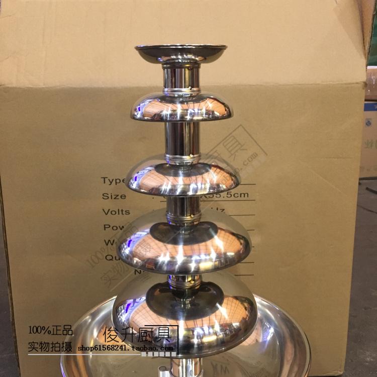 五层巧克力喷泉机喷淋塔五层商用巧克力喷泉机火锅瀑布机朱古力机