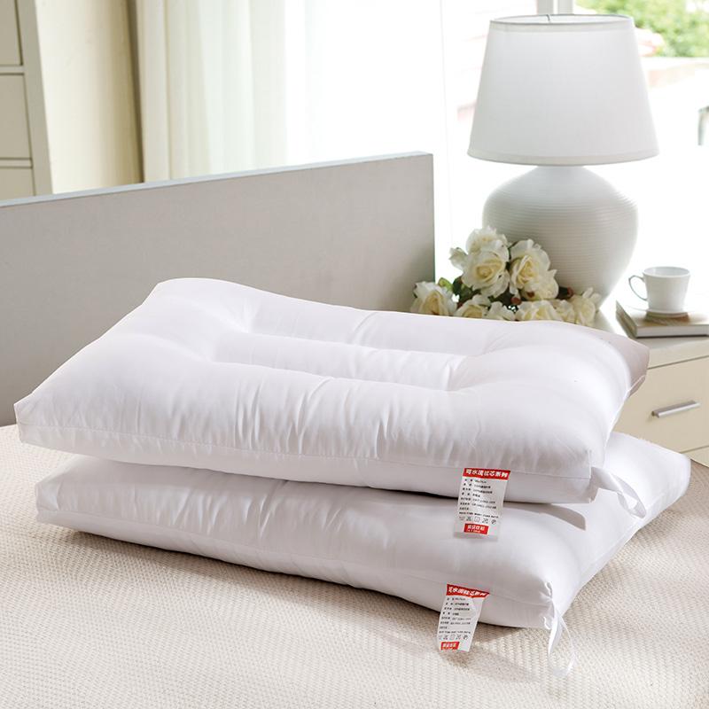 可水洗枕头羽丝绒护颈枕长方形家用学生枕芯枕48*74cm单人一只装