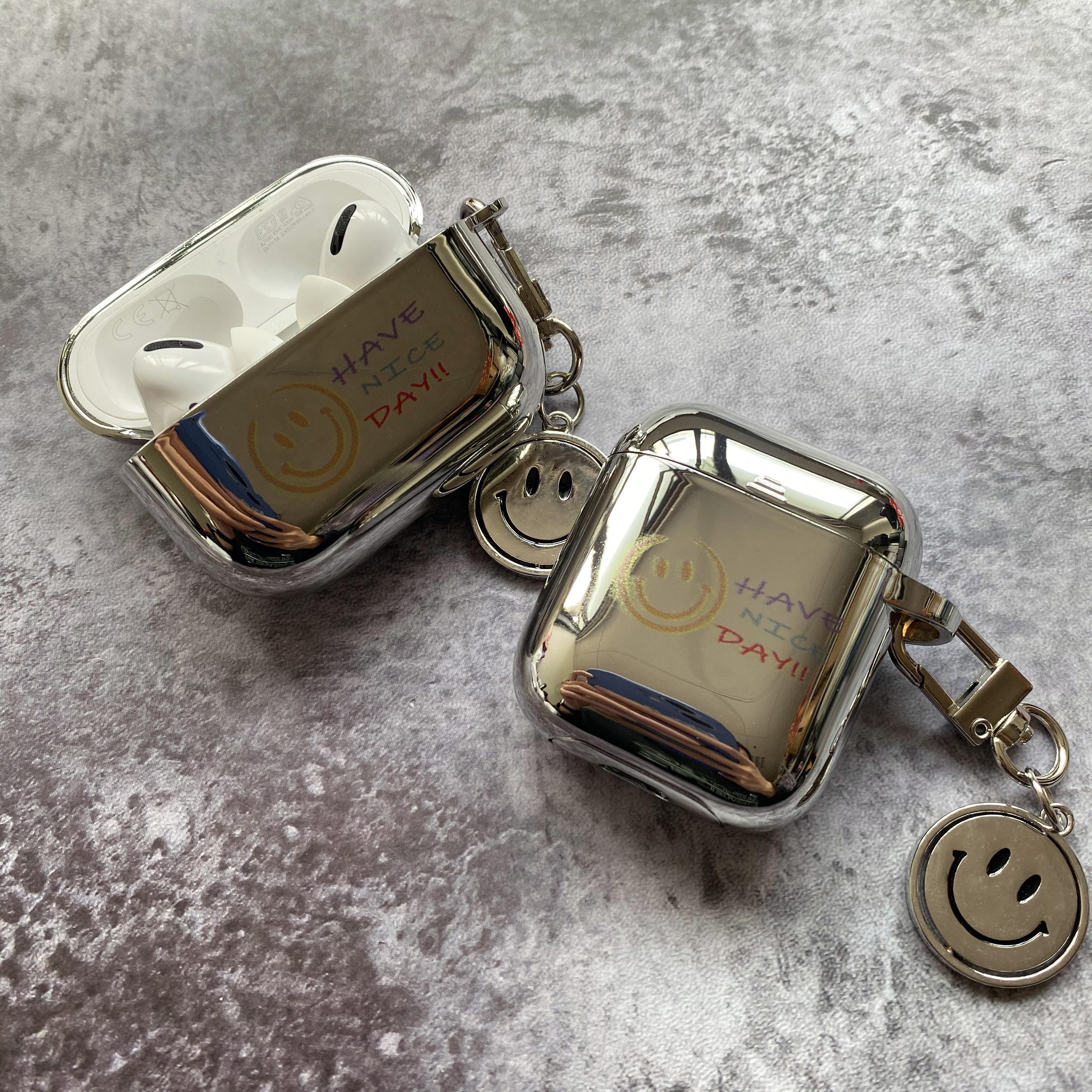 笑脸电镀airpods保护套2代3软硅胶pro适用苹果无线蓝牙耳机壳潮牌