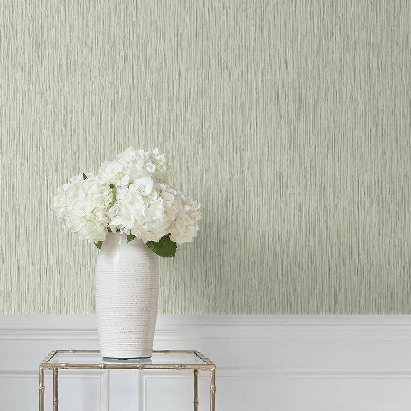 简约纱线无纺布墙纸深色条纹墙布素色客厅背景墙壁纸织雨 艺速