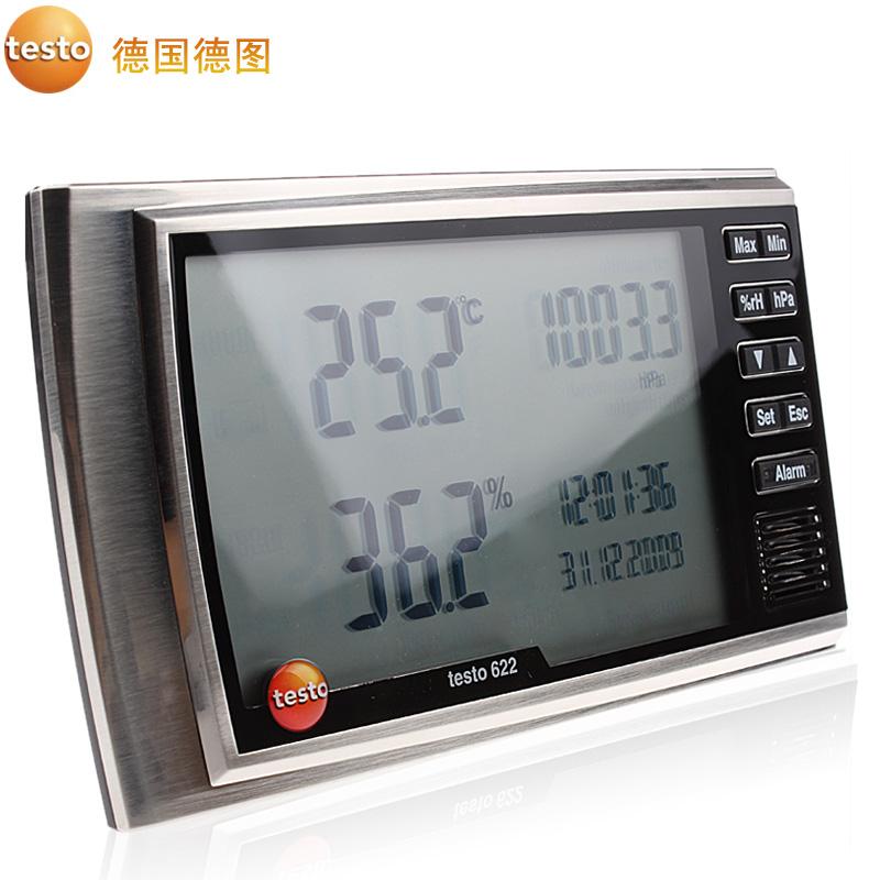 德国德图 环境气象仪温湿度计工业环境大气压力表大屏幕 622/623