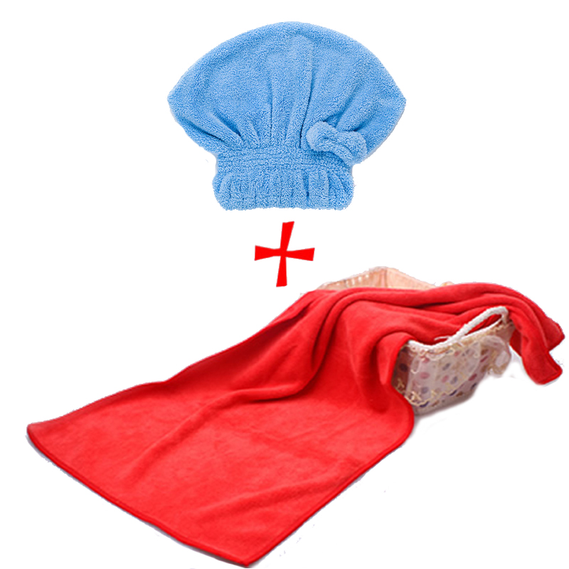 诚利2个装干发帽强吸水毛巾加厚浴帽包头巾成人擦头发速干毛巾