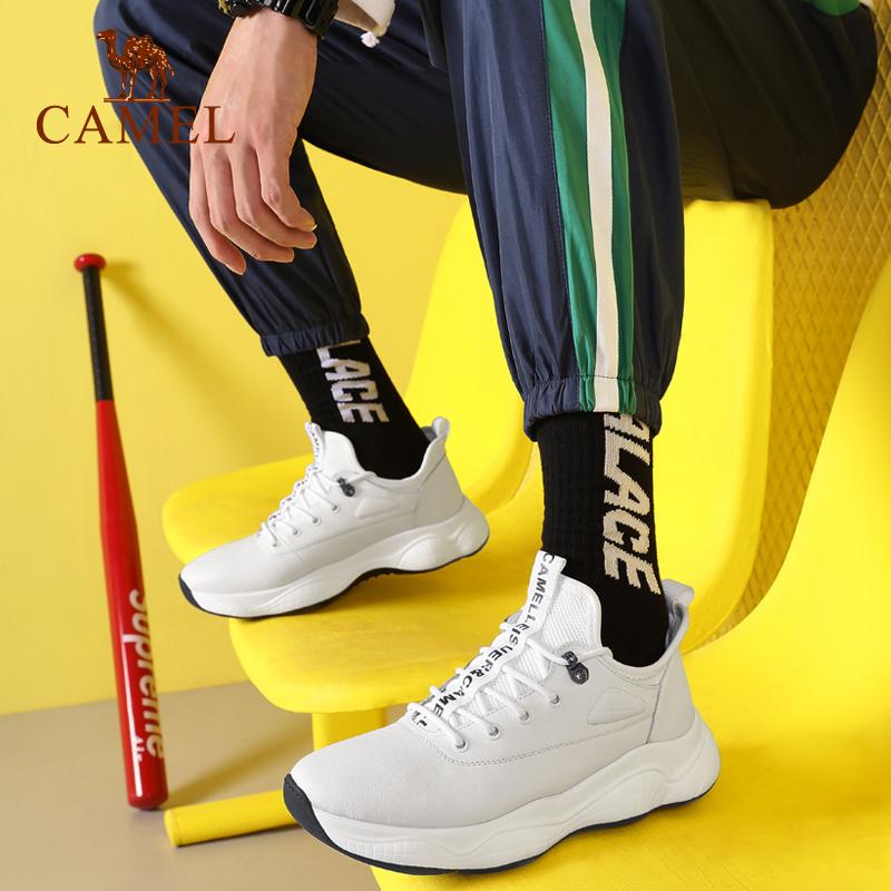 骆驼男鞋 ins夏季男士运动休闲鞋系带青春潮流舒适跑步鞋健步鞋子