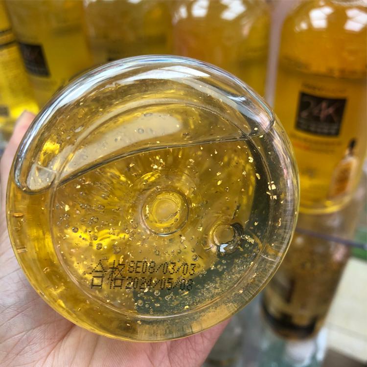 韩尔 金箔黄金玻尿酸精华水浓缩补水保湿提亮肤色大瓶网红推荐  24k