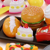 Children's fries do hamburger shop toy cola set play house pizza bread model ice cream simulation food