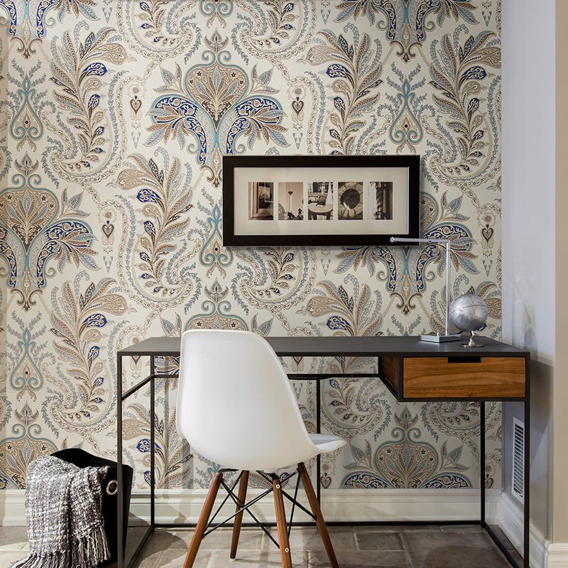 美国原装进口 欧式古典蓝山墙纸 客厅卧室电视背景墙壁纸 -繁盛