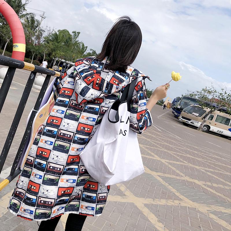 A1W80 年新款风衣中长款复古网红磁带开衫 2019 春季外套女 UPRAISE