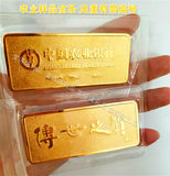 Full weight simulation gold bars agricultural gold bars gold shop sample decoration gold bars display send collection gold bars brick ornaments
