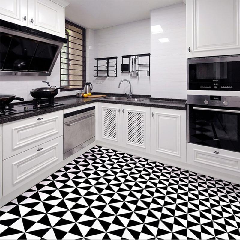 北欧艺术花砖厨卫地砖拼花背景砖300x300阳台花片黑白色花砖