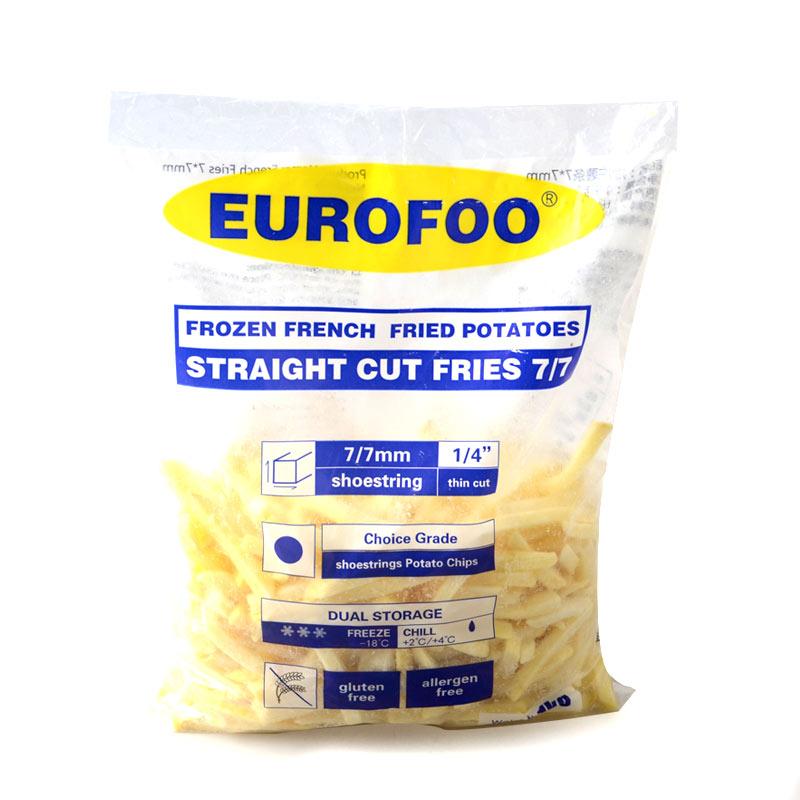 装 1kg 油炸薯条冷冻半成品休闲食品 冷冻薯条 EUrofoo 比利时进口