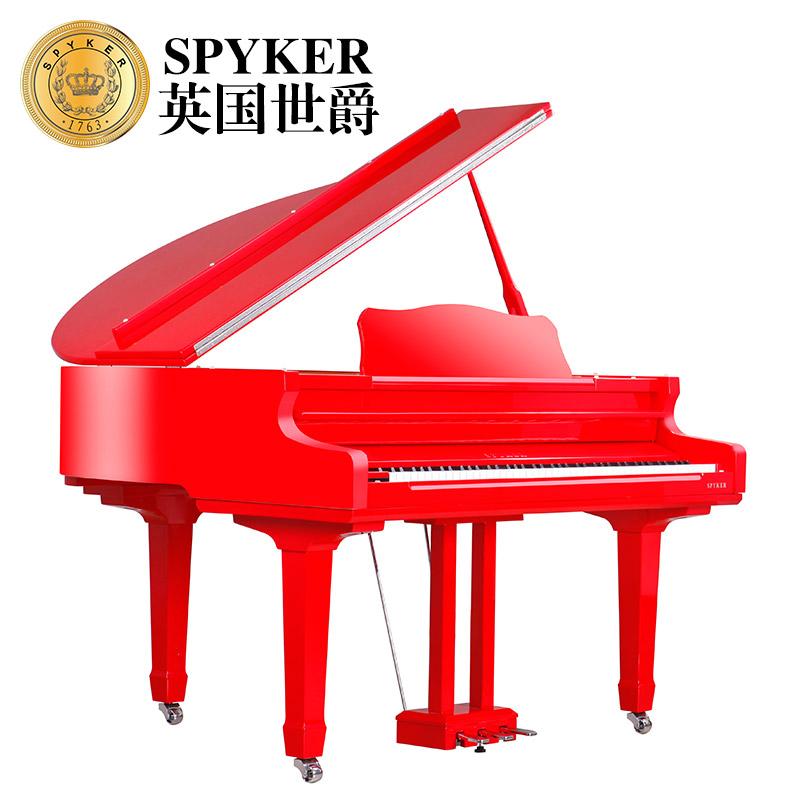 W136 HD 键重锤黑白红色 88 三角钢琴全新电钢琴 英国世爵 SPYKER