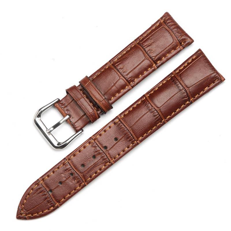 16mm18mm19mm20mm22mm 黑色真皮表带男女手表链牛皮表带手表带棕色