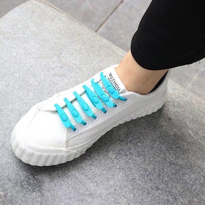 创意智能懒人一脚蹬鞋带可调节松紧弹性硅胶彩色鞋带(买2送1