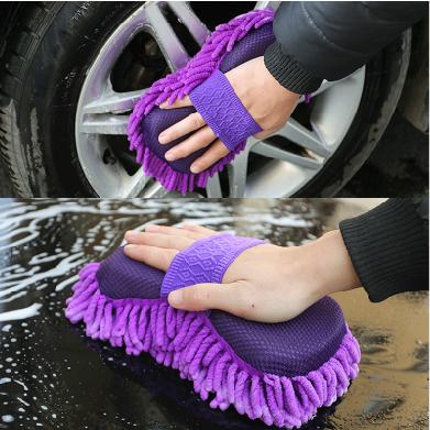 雪尼尔擦车海绵块 车用清洁珊瑚虫洗车海绵 不伤车漆汽车擦车手套