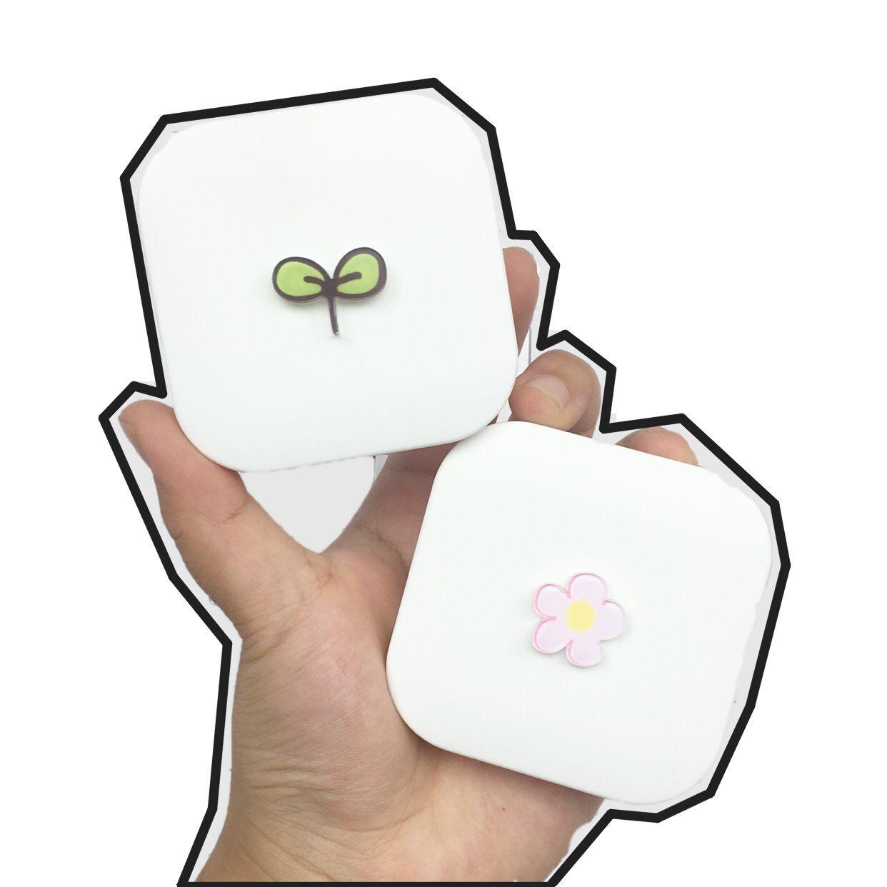 卡通可爱小清新美瞳盒近视隐形眼镜伴侣盒护理盒双联盒便携包邮