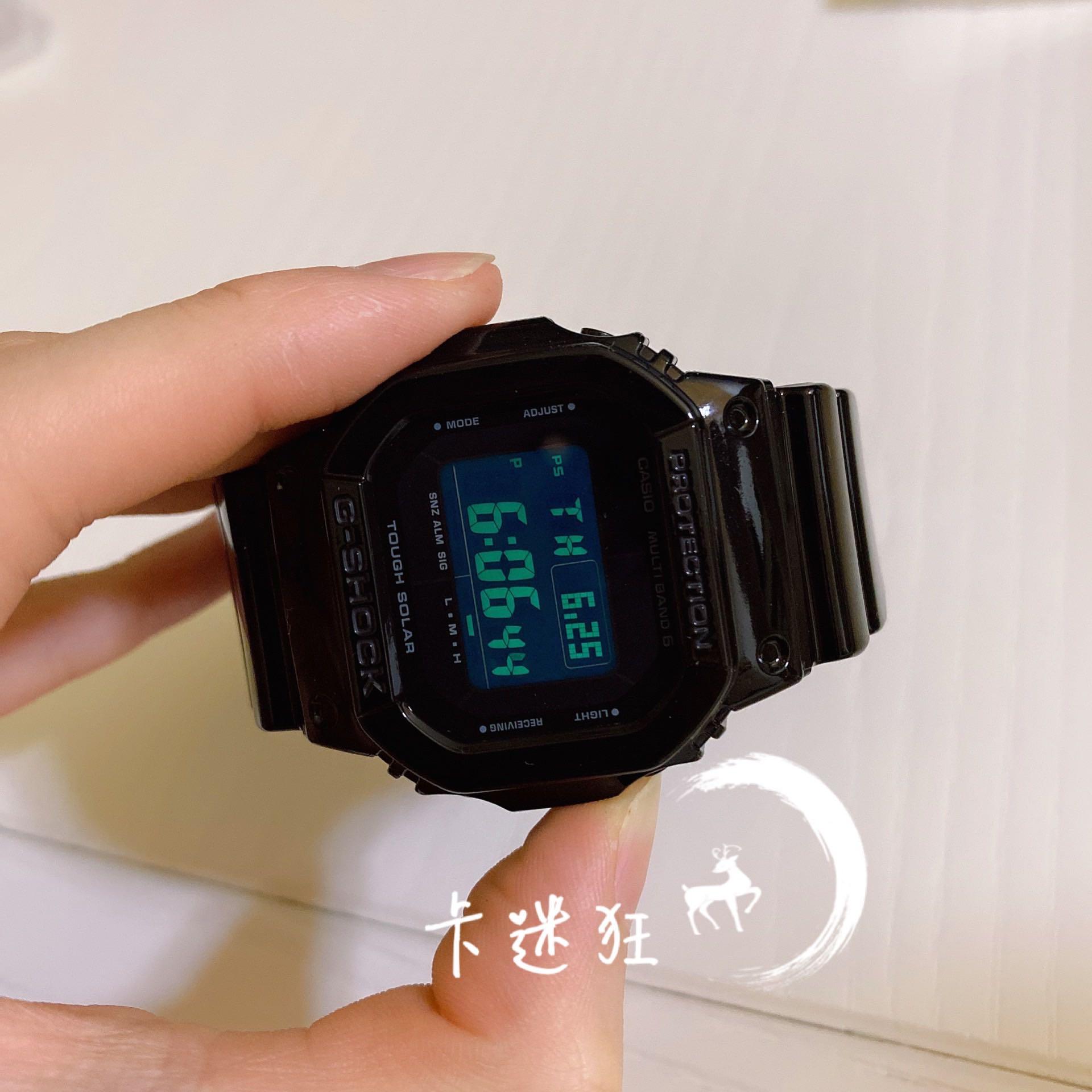 全黑电波太阳能手表男女 M5610BB 1 M5610 GW SHOCK G 卡西欧 CASIO