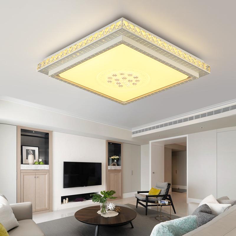 圆形LED水晶吸顶灯具客厅灯大气 现代简约温馨卧室灯餐厅灯饰家用