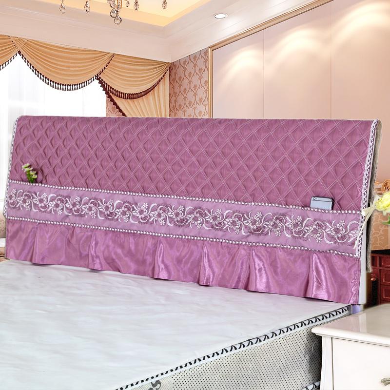 床头罩床头套防尘罩布艺1.5床1.8床保护套夹棉现代简约弧形可拆洗