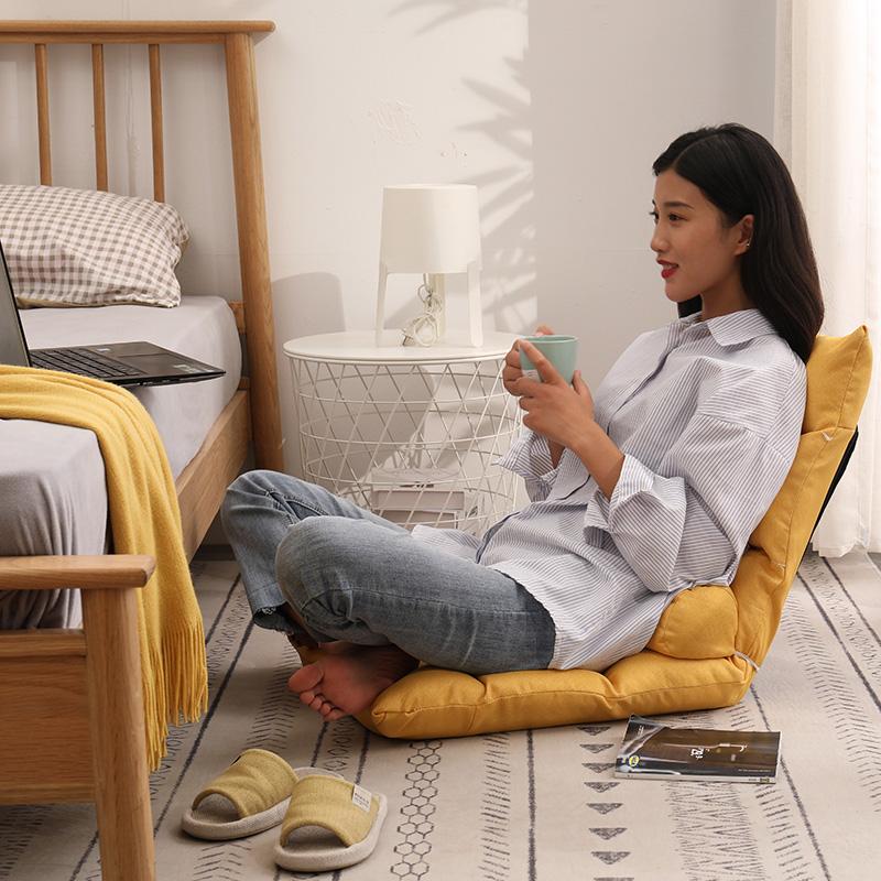 懒人沙发榻榻米可折叠日式单人沙发椅床上靠背椅女生可爱电脑躺椅