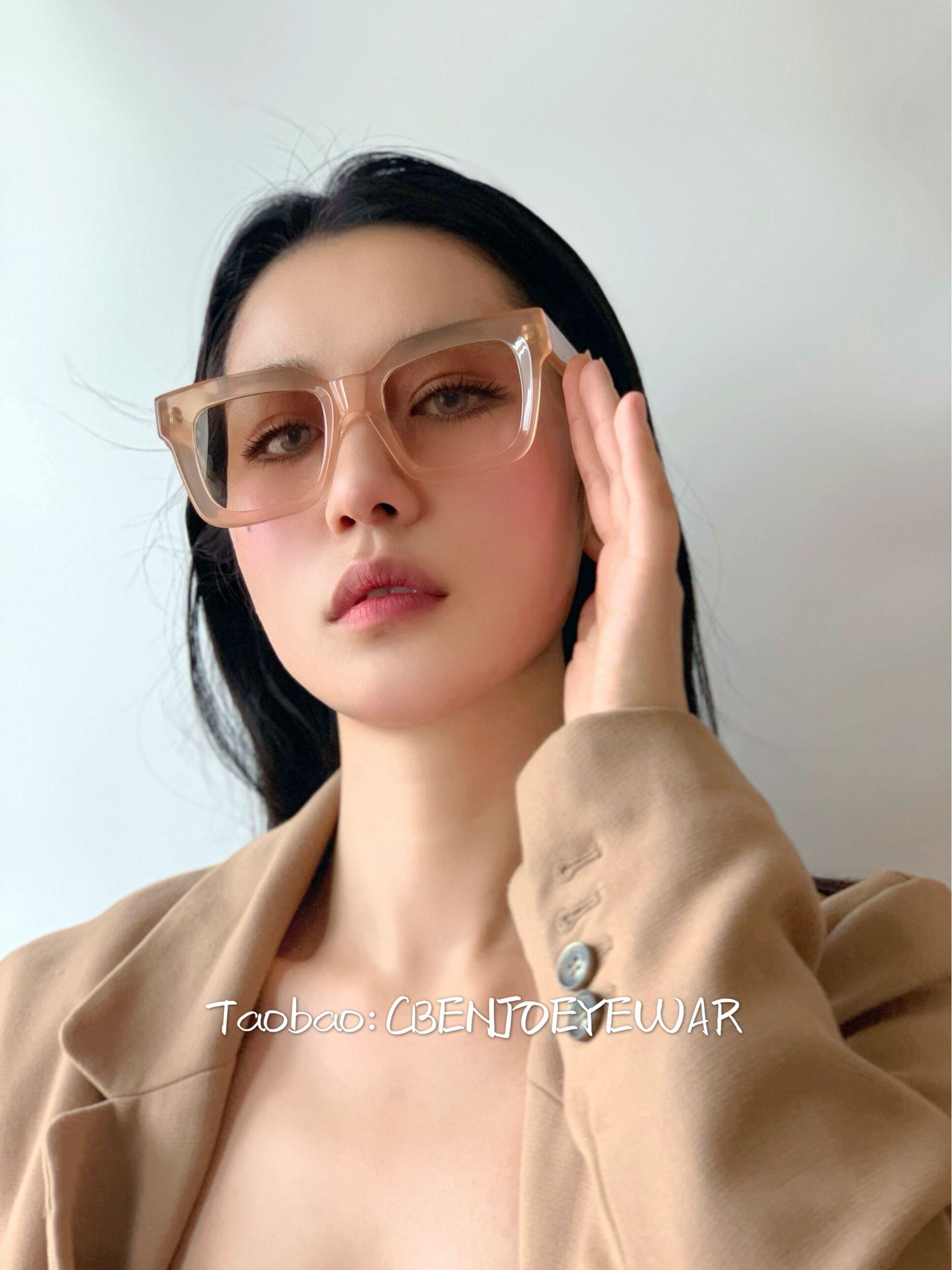CBENJO【温柔裸粉】低饱和色调温润质感墨镜 圆脸方形女