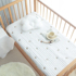 ins Korea Newborn Pure Cotton Quilted Sheets Baby Bed Sheet Customized Baby Upholstered Mattress Quilted Mattress Cover