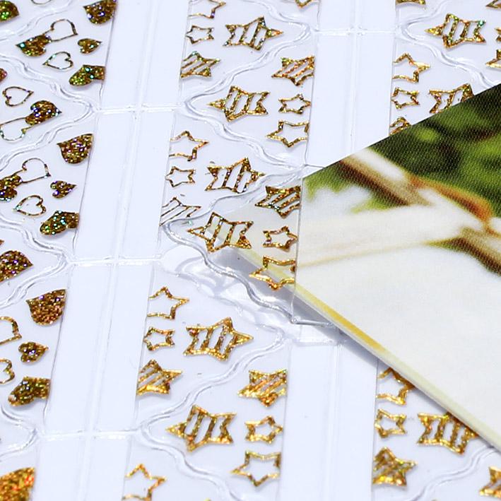 DIY相册配件烫金工艺相片角贴 照片固定贴 相片贴角 照片角贴包邮