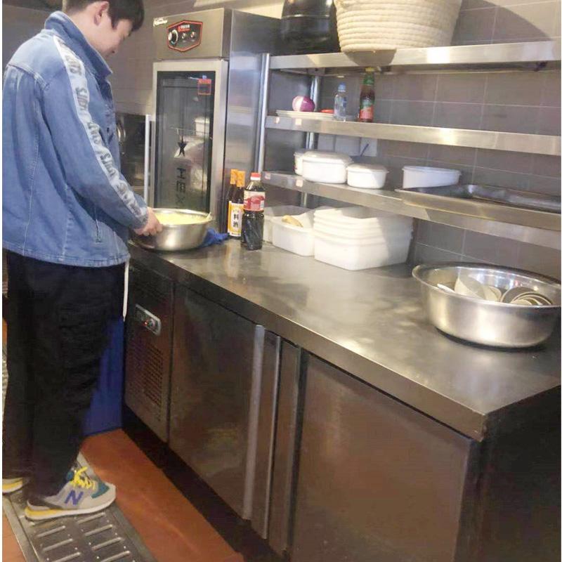 冷藏工作台冰柜冷柜厨房保鲜操作台平冷冰箱冷冻双温柜商用大容量