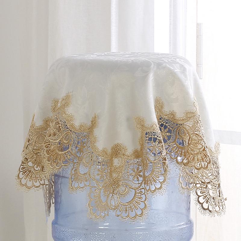 刺绣饮水机盖布 床头柜盖布 家电防尘布水桶罩盖布大小桶通用型