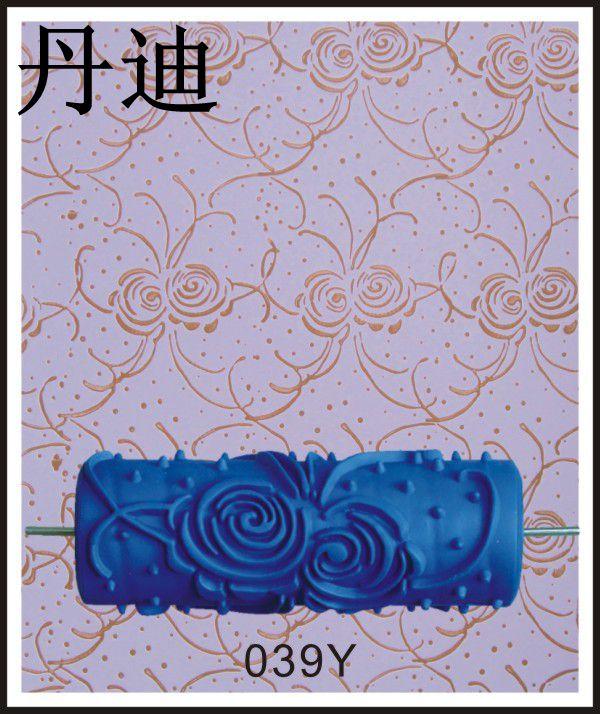 热卖5寸印花滚筒刷墙工具液体壁纸印花滚筒料盒神器油漆花纹滚筒