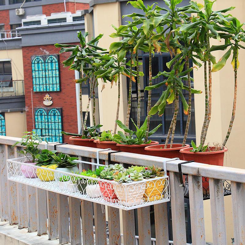 花架子阳台花架挂式花盆挂架铁艺花盆架置物架栏杆悬挂多肉花架