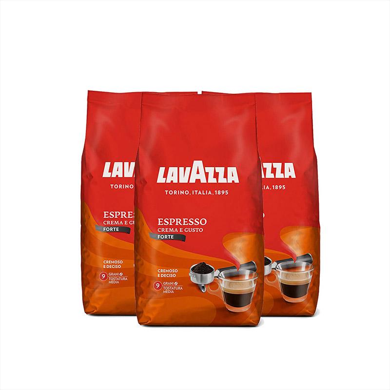 【直营】意大利进口Lavazza金牌咖啡豆 1kg*3