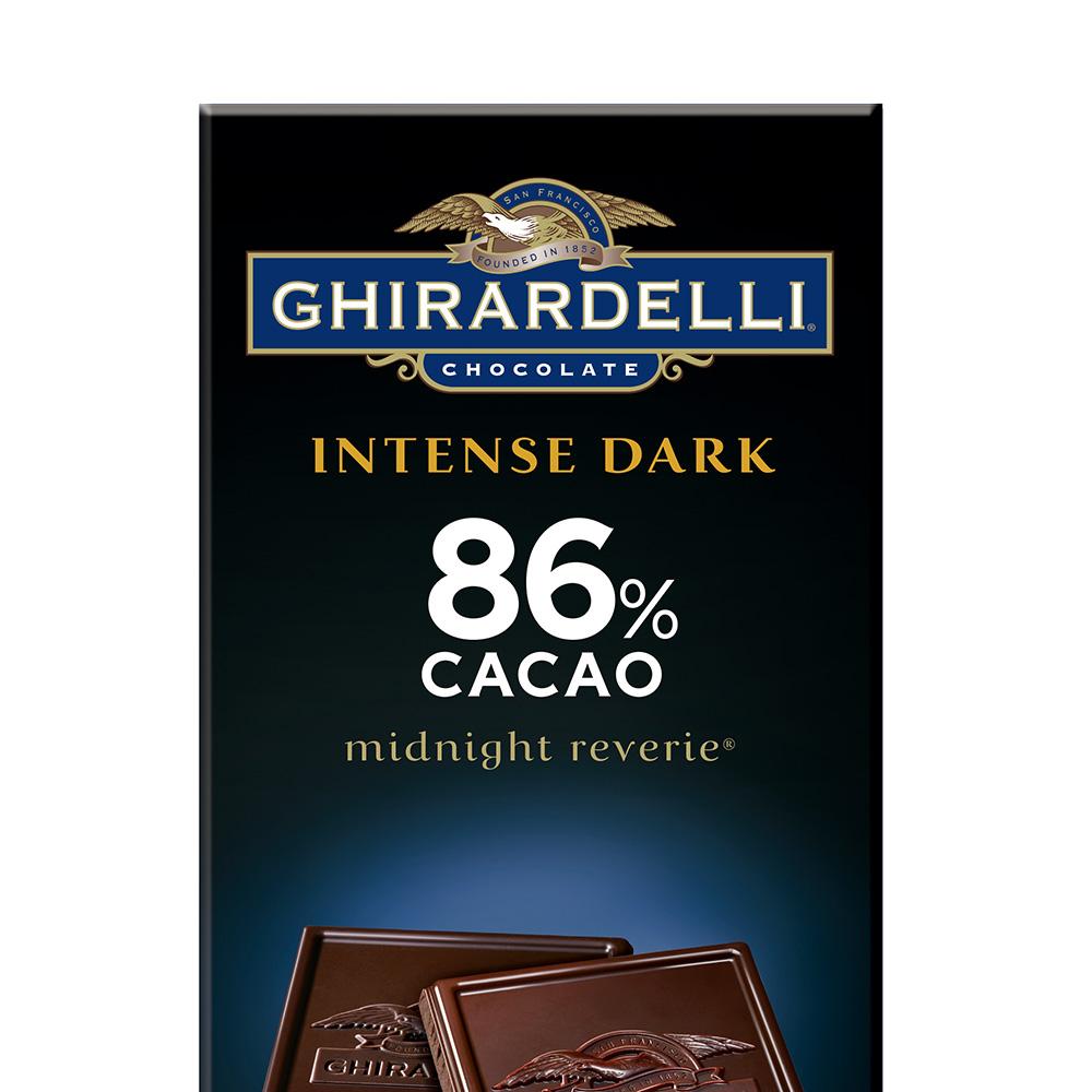 【直营】Ghirardelli吉尔德利特醇86%黑巧克力排装90g